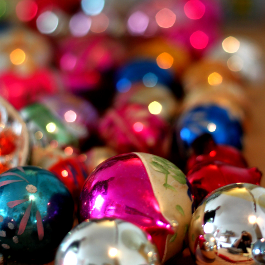 vintage glass baubles