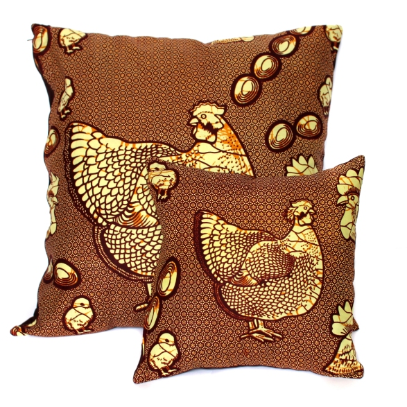 Brown hen chicken cushion covers